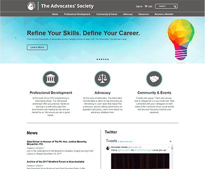 The Advocates' Society powers their website with iMIS CMS