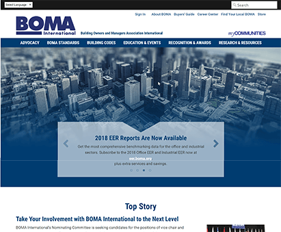 BOMA International powers their website with iMIS CMS