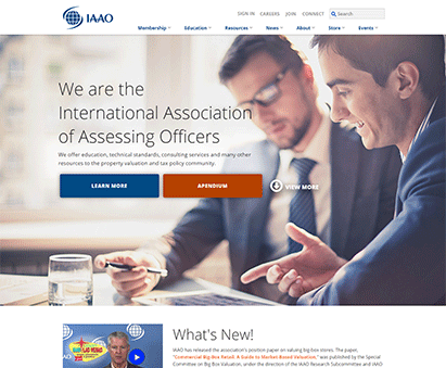 International Association of Assessing Officers powers their website with iMIS CMS