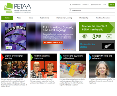 Primary English Teaching Association Australia powers their website with iMIS CMS