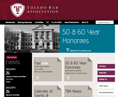 Toledo Bar Association powers their website with iMIS CMS