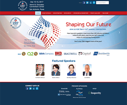 Texas Bankers Association powers their Conference website with iMIS CMS